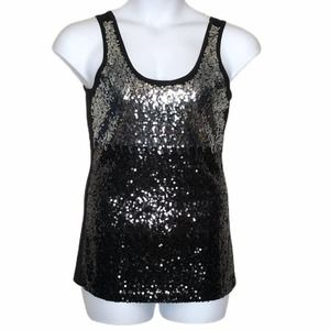 Cruisewear & Co black sequins tank top size small